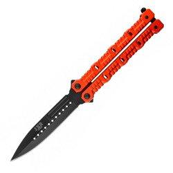 Nóż Joker JKR 449 motylek czerwony ostrze oksydowane 11 cm